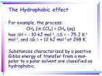 the hydrophobic effect65