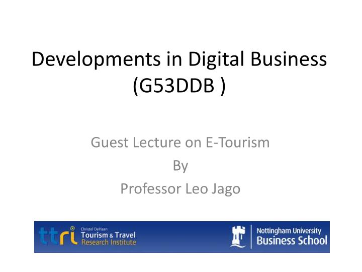 developments in digital business g53ddb n.