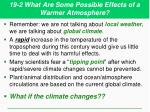 19 2 what are some possible effects of a warmer atmosphere2