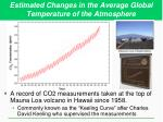 estimated changes in the average global temperature of the atmosphere2