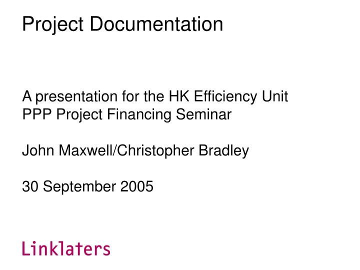project documentation n.