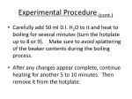 experimental procedure cont1
