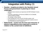 integration with policy 1