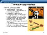 thematic approaches