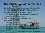 the challenge of the tropics