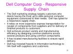 dell computer corp responsive supply chain