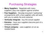 purchasing strategies
