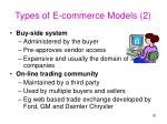 types of e commerce models 2