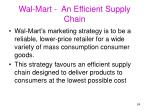 wal mart an efficient supply chain