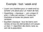 exemple foot week end