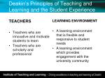 deakin s principles of teaching and learning and the student experience1