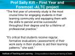 prof sally kift first year and foremost altc project