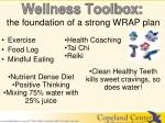 wellness toolbox the foundation of a strong wrap plan