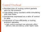 control overhead