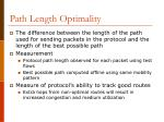 path length optimality