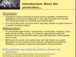 introduction meet the pesticides