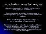 impacto das novas tecnologias1