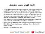 aviation union v saa lac