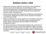aviation union v saa