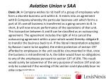 aviation union v saa3