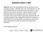 aviation union v saa4