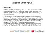 aviation union v saa5