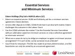 essential services and minimum services1