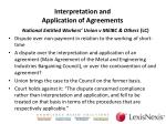 interpretation and application of agreements