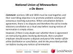 national union of mineworkers v de beers5