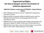 organisational rights the duty to bargain and the termination of collective agreements3