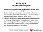 restructuring transfers of employment