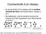 connectivit d un r seau