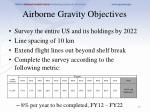 airborne gravity objectives