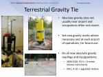 terrestrial gravity tie