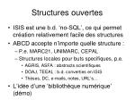 structures ouvertes