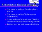 collaborative teaching strategies
