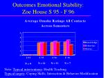 outcomes emotional stability zoe house s 95 f 96