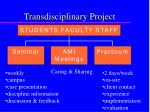 transdisciplinary project