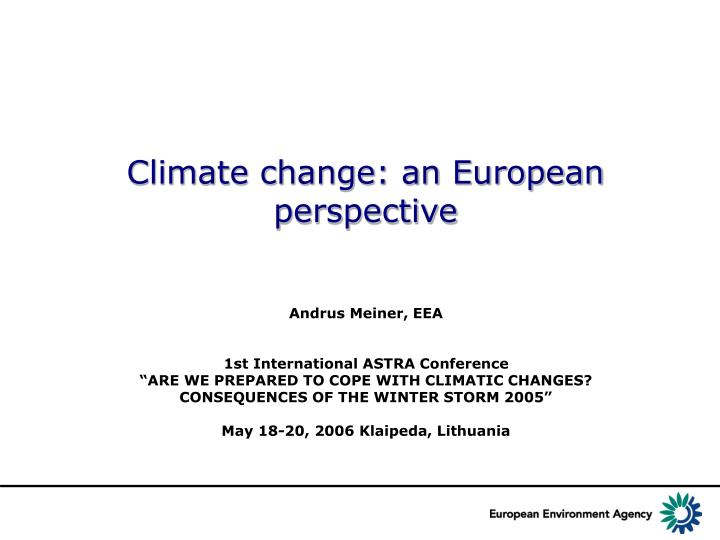 climate change an european perspective n.