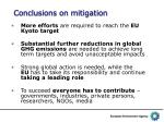 conclusions on mitigation