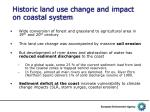 historic land use change and impact on coastal system