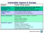 vulnerable regions in europe