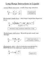 long range interactions in liquids