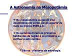 a astronomia na mesopot mia