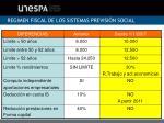 regimen fiscal de los sistemas previsi n social