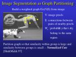 image segmentation as graph partitioning