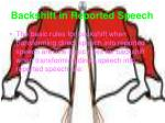 backshift in reported speech