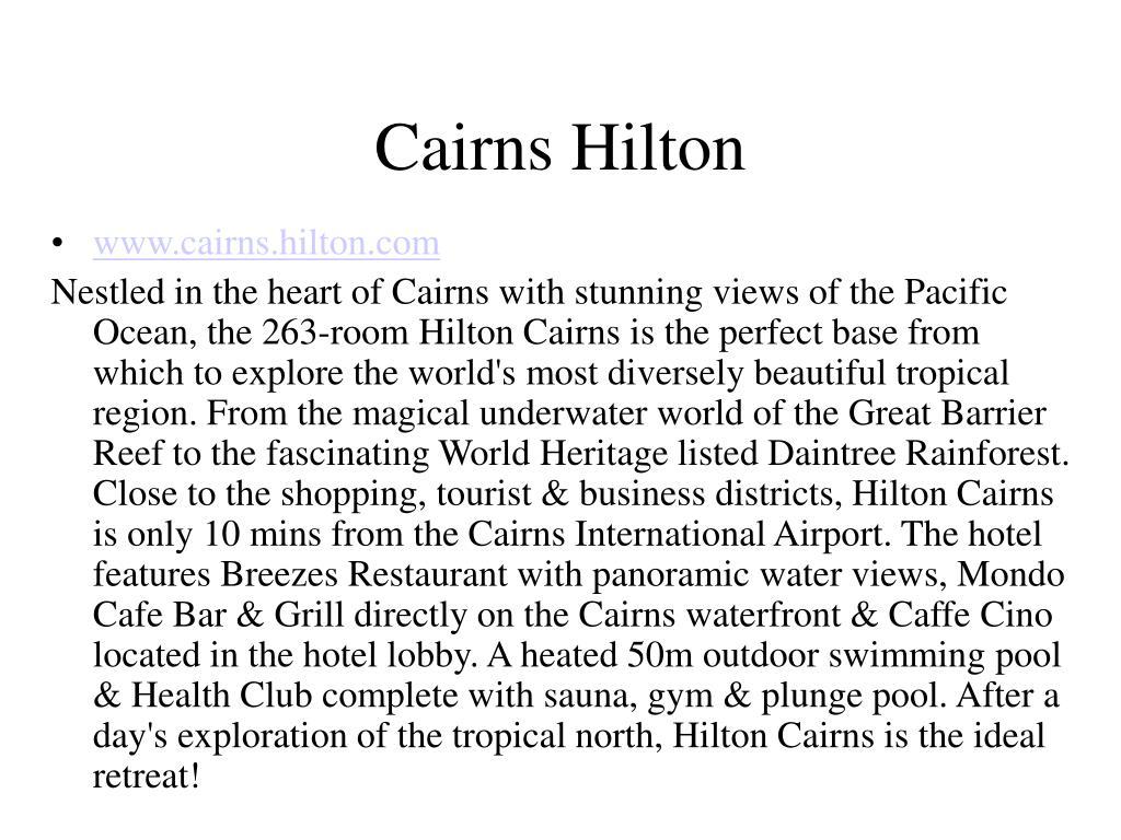 Cairns Hilton