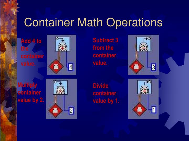 Container Math Operations
