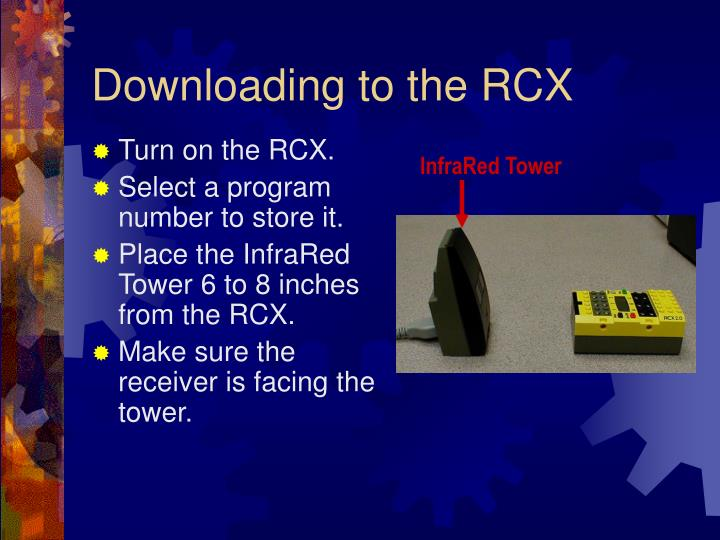 Downloading to the RCX